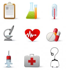 Clipart om variatie in medische software aan te geven.