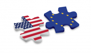 Illustration depicting legal requirements for manuals in the EU and the US.