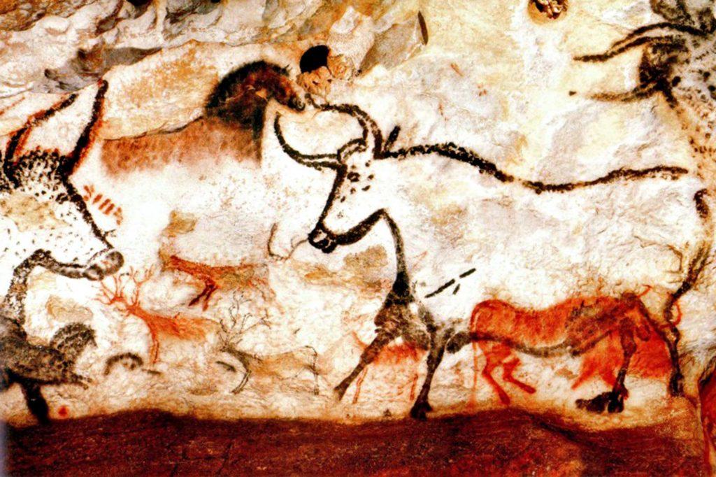 Tekening uit de grotten van Lascaux