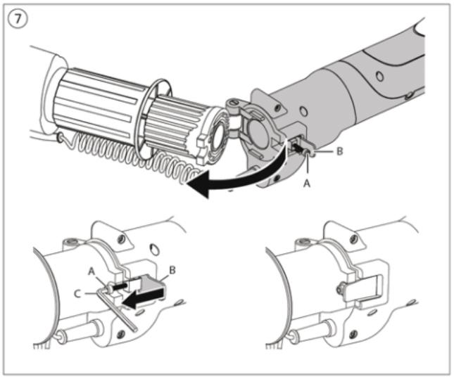 Technische illustratie die de koppeling tussen twee productonderdelen benadrukt.